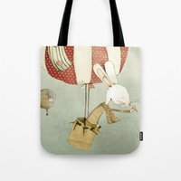 balloon Tote Bags featuring Balloon by Judith Loske