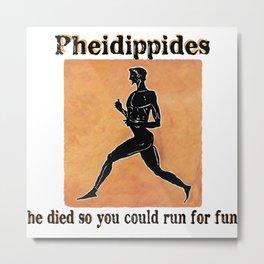 Pheidippides Metal Print
