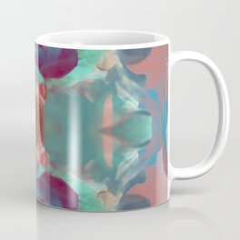 Deep in a Blue Flower Kaleidoscope Coffee Mug