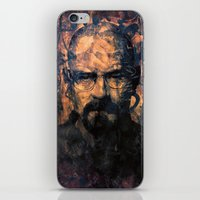 walter white iPhone & iPod Skins featuring Walter White by Sirenphotos