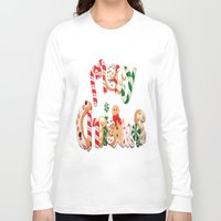 merry christmas Long Sleeve T-shirts featuring MERRY CHRISTMAS by UDIN