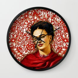 Frida Kahlo 2 Wall Clock