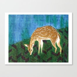 The Spotted Deer - India Inspired Exotic Art Print - Limited Edition  Canvas Print