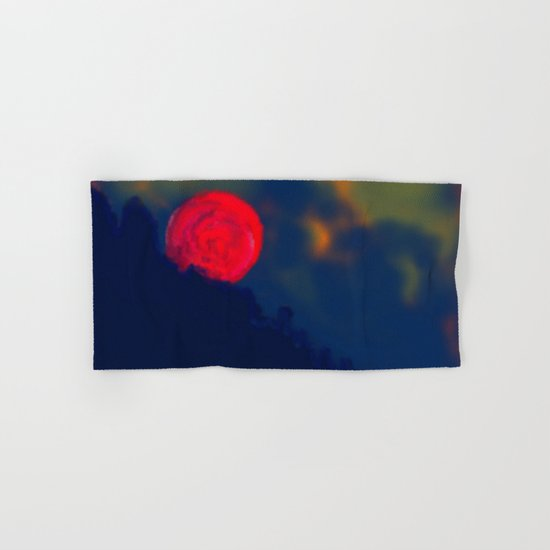 Red Moon Hand & Bath Towel