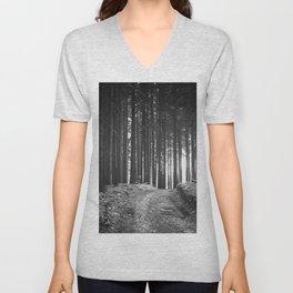Forest (Black and White) Unisex V-Neck