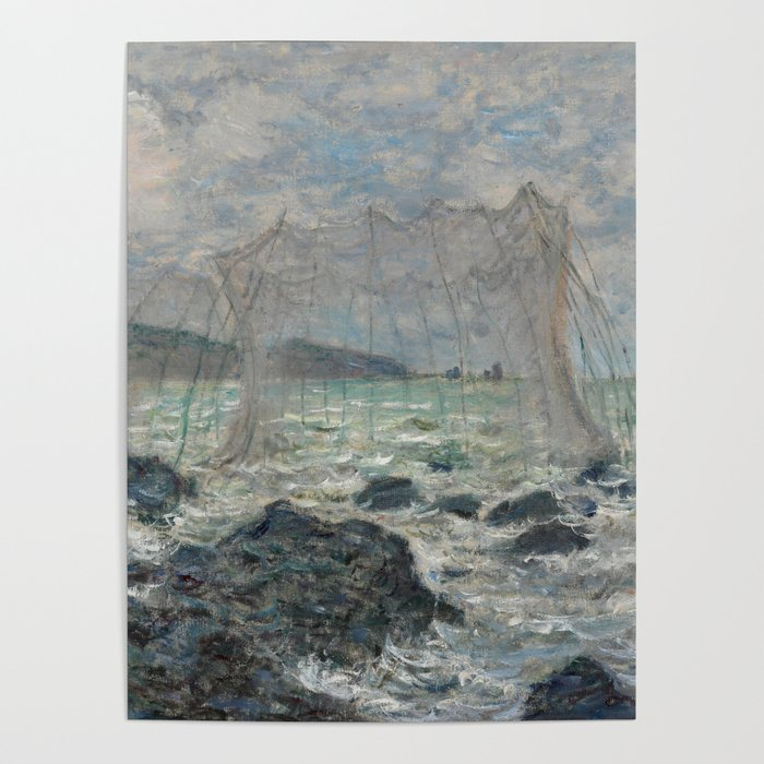 Fishing Nets at Pourville Poster