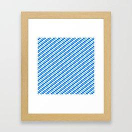 Bavarian Blue and White Diamond Flag Pattern Framed Art Print