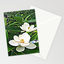 White Flowers of the Purest Essence Stationery Cards