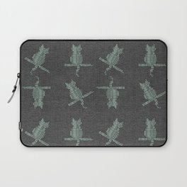 Rustic Cozy Funny Cats Laptop Sleeve