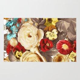 Watercolors Floral Pattern Rug