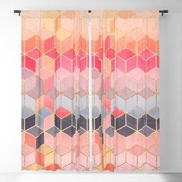 Happy Cubes Blackout Curtain