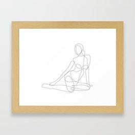 Woman Sitting on the Floor Framed Art Print
