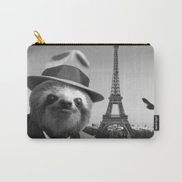 Gentleman Sloth in Paris Carry-All Pouch