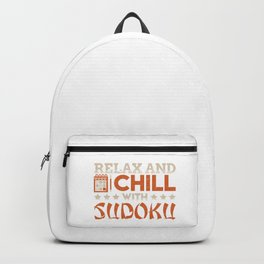 Relax and Chill with Sudoku Backpack