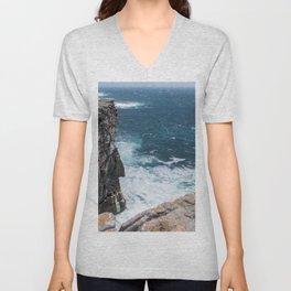 Cliffs off Dún Aonghasa Unisex V-Neck