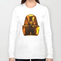 versace Long Sleeve T-shirts featuring Gangsta Pharaoh II Gold & Versace by KARAM