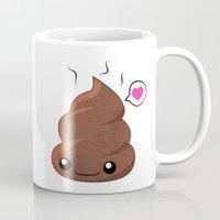 poop Mugs featuring Poop Love by Whitney Lynn Art