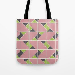 Retro Geometry surface pattern (Pink-green) Tote Bag