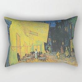 Van Gogh -  The Cafe Terrace on the Place du Forum, Arles, at Night Rectangular Pillow