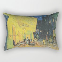Van Gogh -  The Cafe Terrace on the Place du Forum, Arles, at Night Rectangular Pillow