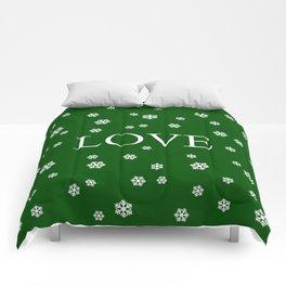 Winter Love - hunter green Comforters