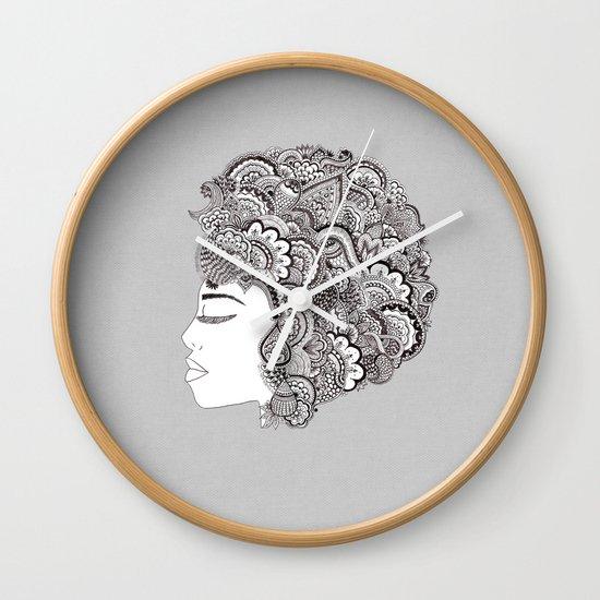 her hair Wall Clock