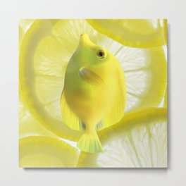 Lemon Fish Metal Print