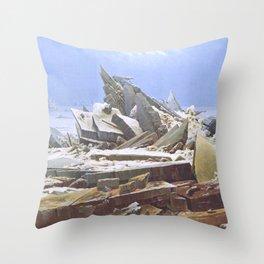 The Sea of Ice - Caspar David Friedrich Throw Pillow