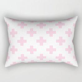 Baby Pink Plus Sign Pattern Rectangular Pillow