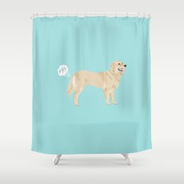 golden retriever funny farting dog breed gifts Shower Curtain