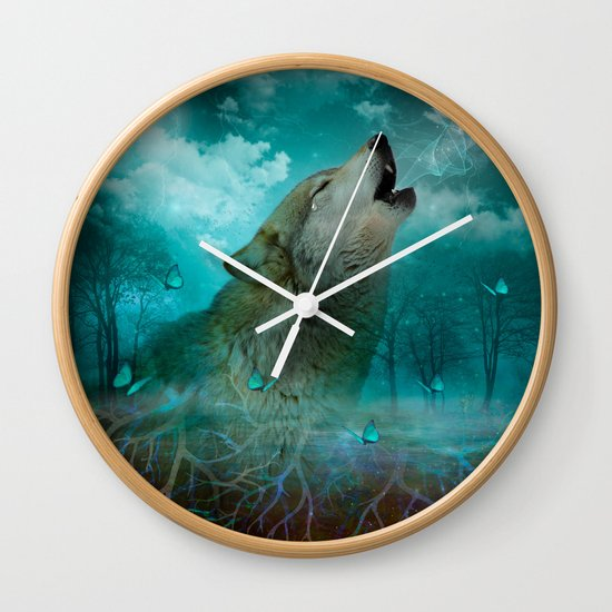 I'll See You In My Dreams (Cry of the Wolf) Wall Clock