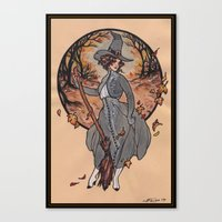 witch Canvas Prints featuring Witch by Fyodor Pavlov