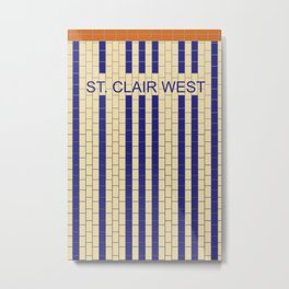 ST. CLAIR WEST | Subway Station Metal Print