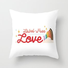Label Free Love  inspired by The L Word Throw Pillow