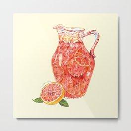 Grapefruit Ade Metal Print