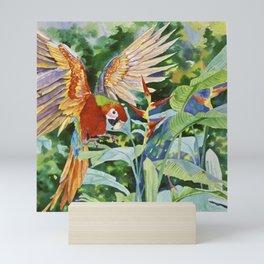 Parrot in Flight Mini Art Print