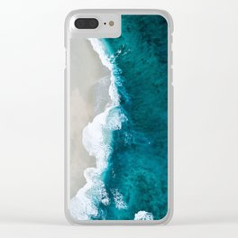 Seashore and rough water Clear iPhone Case