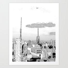 Sao Paulo -Art Art Print