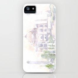 Watercolor landscape illustration_India - Taj Mahal iPhone Case
