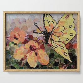 """"""" Butterfly Visit """" Serving Tray"""