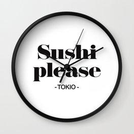 Sushi Please Wall Clock