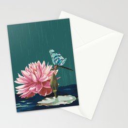 Ophelia's Lily & Dragonfly Stationery Cards