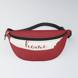 Tennessee is Home - White on Red Fanny Pack