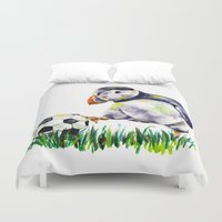 football Duvet Covers featuring Football by Anna Shell