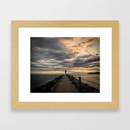 Sunrise at Seabreeze Pier Framed Art Print