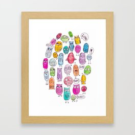 The Owl Family Tree Framed Art Print