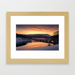 Dawn over Ashopton Framed Art Print