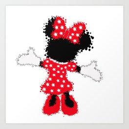 Minnie Mouse Paint Splat Magic Art Print