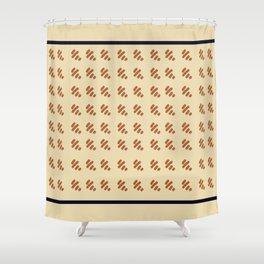 Preppy Houndstooth Shower Curtain