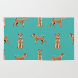 Irish Terrier dog breed pet gifts must have terriers Rug